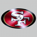 San Francisco 49ers Stainless steel logo iron on sticker