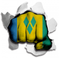 Fist Saint Vincent And The Grenadines Flag Logo decal sticker