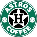 Houston Astros Starbucks Coffee Logo iron on sticker