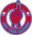 Number One Hand New York Rangers logo iron on sticker