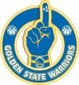 Number One Hand Golden State Warriors logo iron on sticker