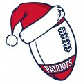 New England Patriots Football Christmas hat logo iron on sticker