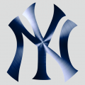New York Yankees Stainless steel logo iron on sticker