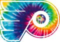 Philadelphia Flyers rainbow spiral tie-dye logo decal sticker