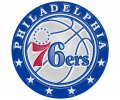 Philadelphia 47ers Plastic Effect Logo decal sticker