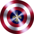 Captain American Shield With New Orleans Saints Logo decal sticker