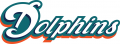 Miami Dolphins 2009-2012 Wordmark Logo decal sticker