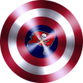 Captain American Shield With Tampa Bay Buccaneers Logo decal sticker