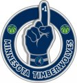 Number One Hand Minnesota Timberwolves logo iron on sticker