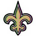 Phantom New Orleans Saints logo iron on sticker