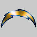 Los Angeles Chargers Stainless steel logo iron on sticker