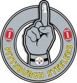 Number One Hand Pittsburgh Steelers logo decal sticker