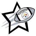 Pittsburgh Steelers Football Goal Star logo iron on sticker