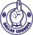 Number One Hand Dallas Cowboys logo decal sticker