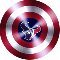 Captain American Shield With Houston Texans Logo decal sticker