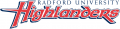 Radford Highlanders 2008-2015 Wordmark Logo iron on sticker