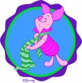 Disney Piglet Logo 09 decal sticker