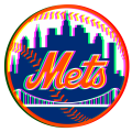 Phantom New York Mets logo decal sticker