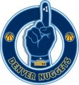 Number One Hand Denver Nuggets logo iron on sticker