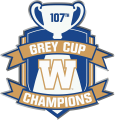 Winnipeg Blue Bombers 2019 Champion Logo decal sticker