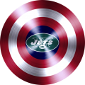 Captain American Shield With New York Jets Logo decal sticker