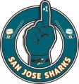 Number One Hand San Jose Sharks logo iron on sticker
