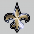 New Orleans Saints Stainless steel logo iron on sticker