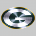 Green Bay Packers Stainless steel logo iron on sticker
