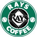Tampa Bay Rays Starbucks Coffee Logo iron on sticker