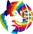 Minnesota Timberwolves rainbow spiral tie-dye logo iron on sticker