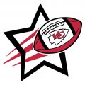Kansas City Chiefs Football Goal Star logo iron on sticker