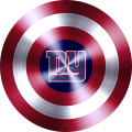Captain American Shield With New York Giants Logo decal sticker