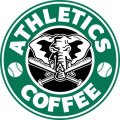 Oakland Athletics Starbucks Coffee Logo iron on sticker
