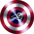 Captain American Shield With Los Angeles Rams Logo decal sticker