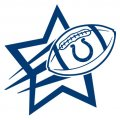 Indianapolis Colts Football Goal Star logo iron on sticker