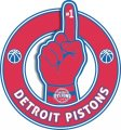 Number One Hand Detroit Pistons logo iron on sticker