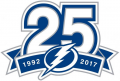 Tampa Bay Lightning 2017 18 Anniversary Logo iron on sticker