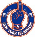 Number One Hand New York Islanders logo iron on sticker
