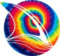 San Jose Sharks rainbow spiral tie-dye logo decal sticker