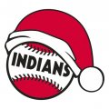 Cleveland Indians Baseball Christmas hat logo decal sticker