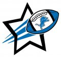 Detroit Lions Football Goal Star logo iron on sticker