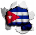 Fist Cuba Flag Logo decal sticker