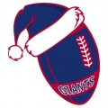 New York Giants Football Christmas hat logo iron on sticker