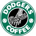 Los Angeles Dodgers Starbucks Coffee Logo iron on sticker