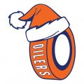 Edmonton Oilers Hockey ball Christmas hat logo decal sticker