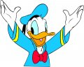 Donald Duck Logo 54 decal sticker