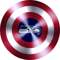 Captain American Shield With Seattle Seahawks Logo decal sticker