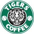 Detroit Tigers Starbucks Coffee Logo iron on sticker