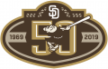 San Diego Padres 2019 Anniversary Logo 01 decal sticker