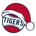 Detroit Tigers Baseball Christmas hat logo decal sticker